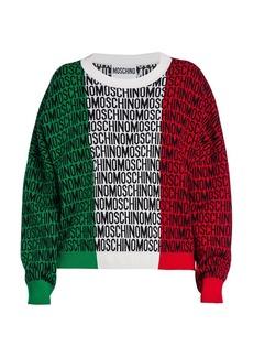 Moschino Logo Italian Wool Knit Sweater