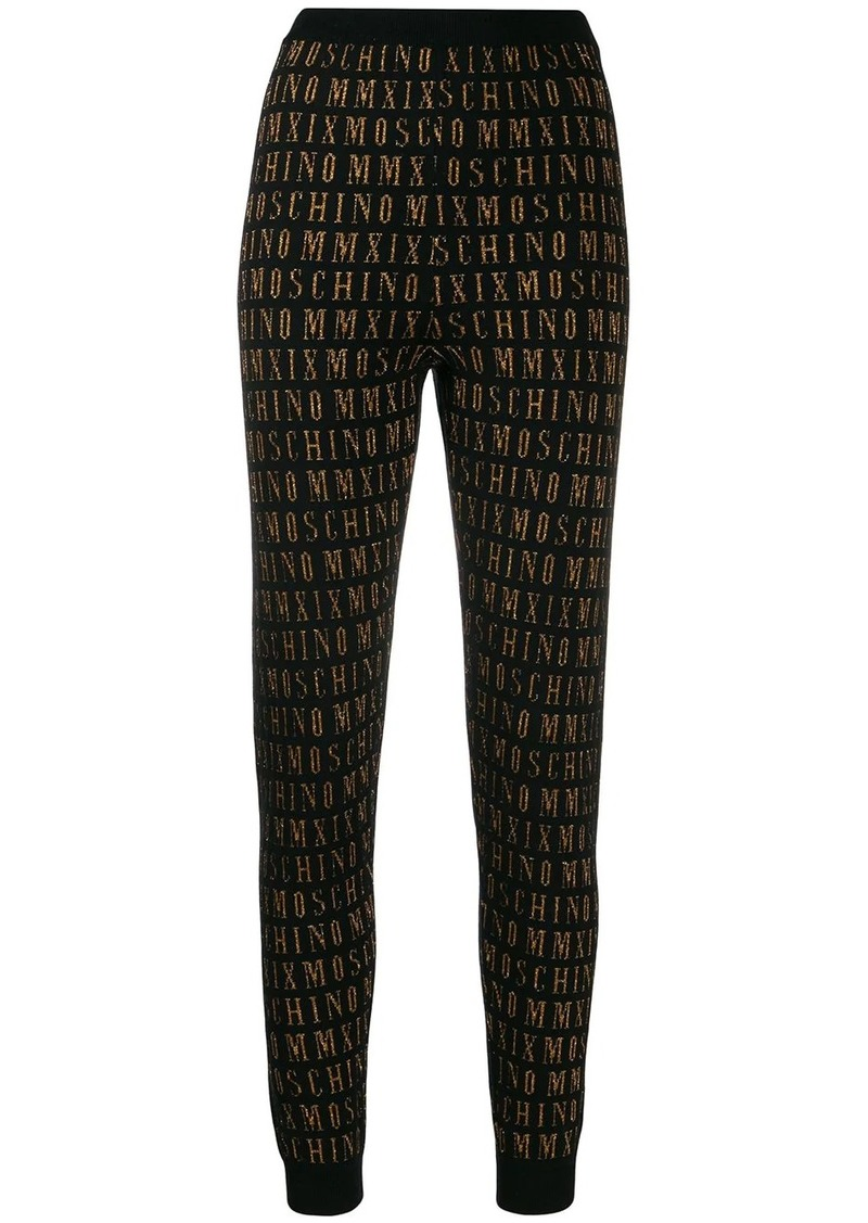 Moschino logo knitted joggers