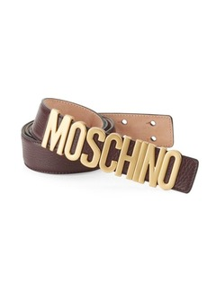 Moschino Logo Leather Belt