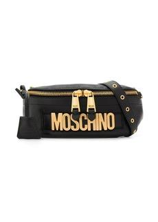 Moschino logo leather belt bag