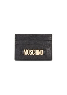 Moschino Logo Leather Card Case