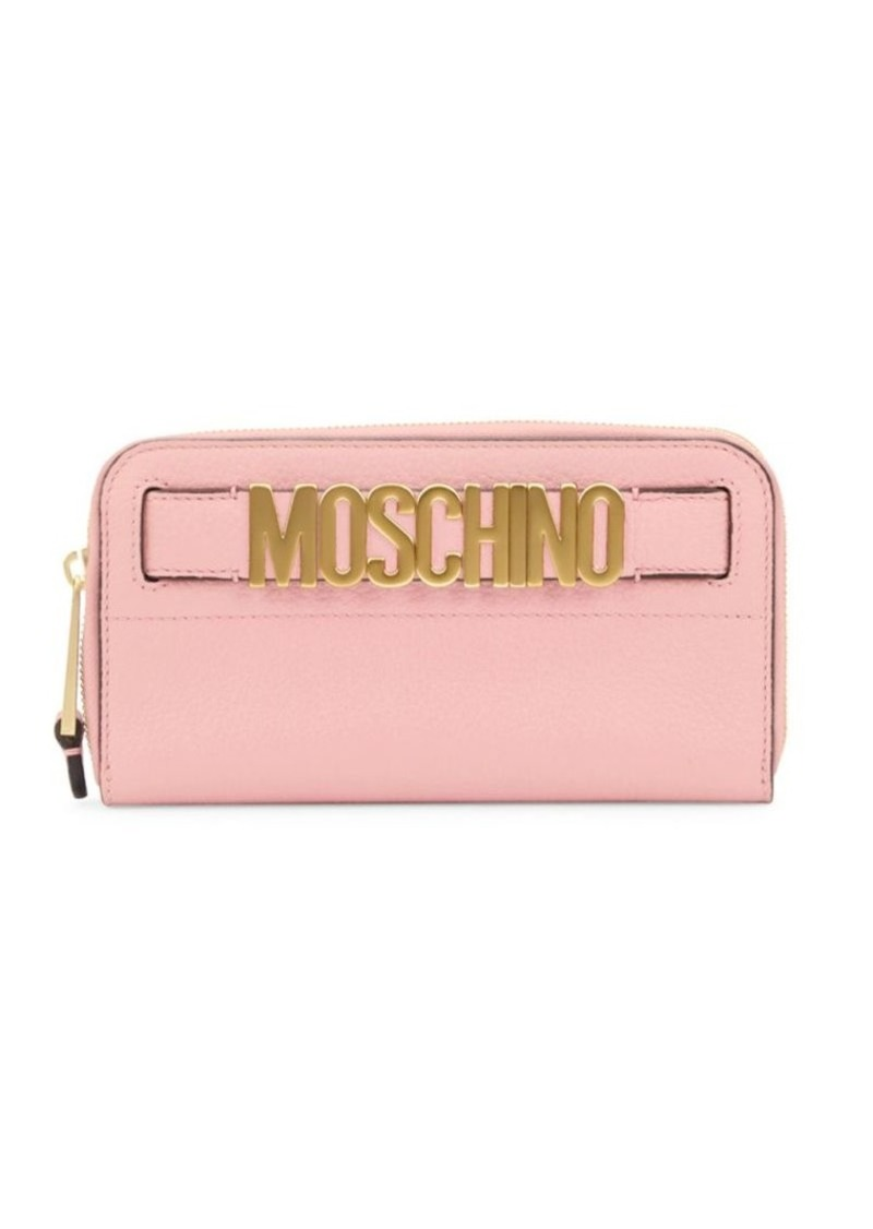 Moschino Logo Leather Continental Wallet