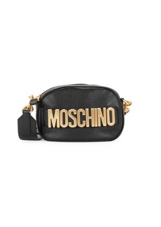 Moschino Logo Leather Convertible Bag