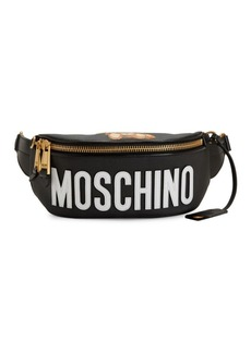 Moschino Logo Leather Fanny Pack