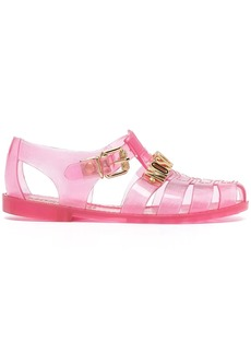 Moschino logo-lettering jelly sandals