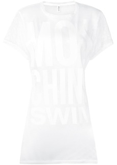 Moschino logo mesh dress