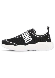Moschino Logo Nylon Slip On Sneakers