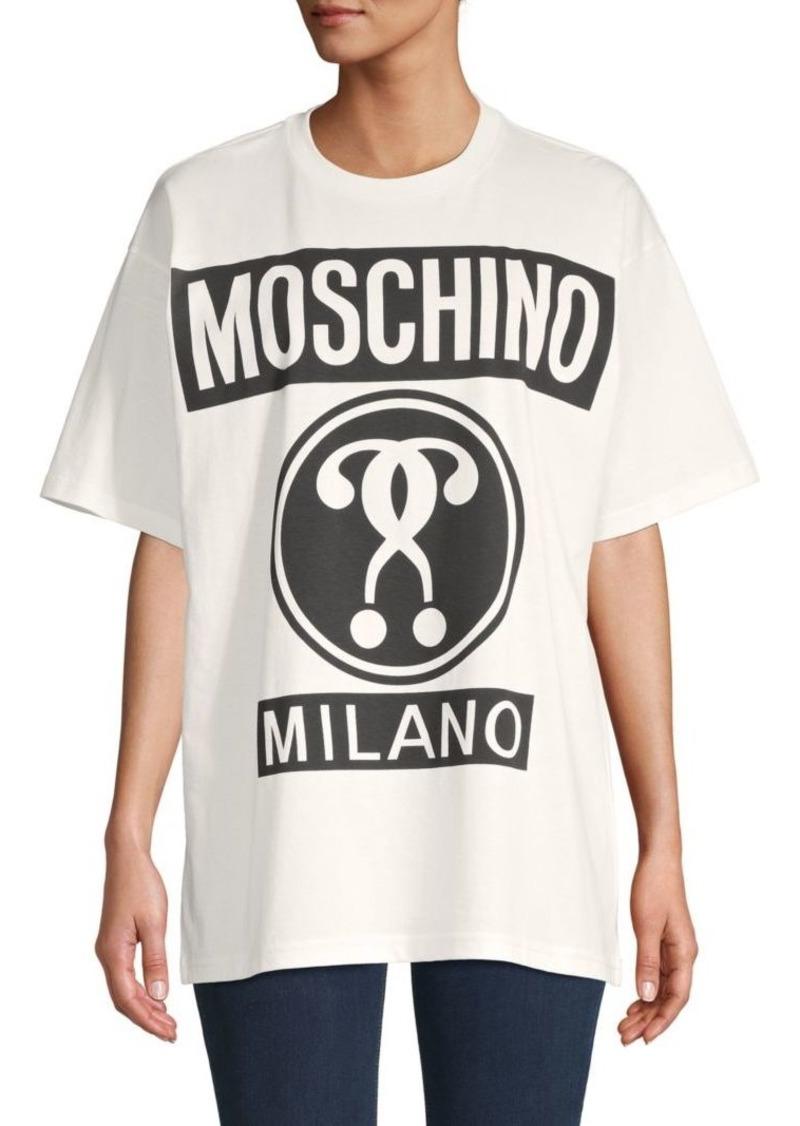 Moschino Logo Oversized Cotton Tee
