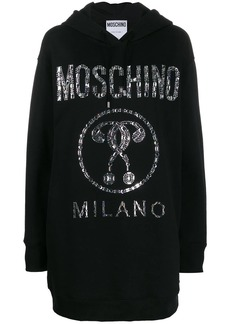 Moschino logo oversized hoodie dress