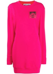 Moschino logo patch sweatshirt dress