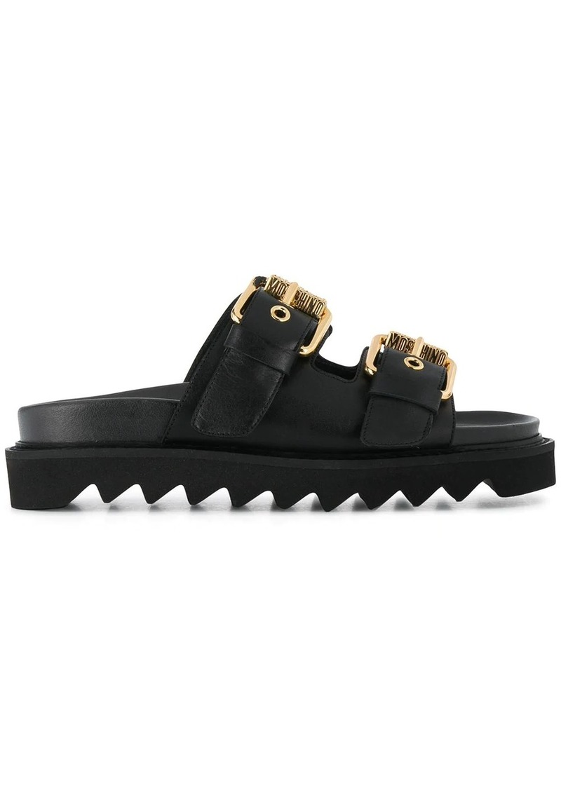 Moschino buckled slip-on sandals