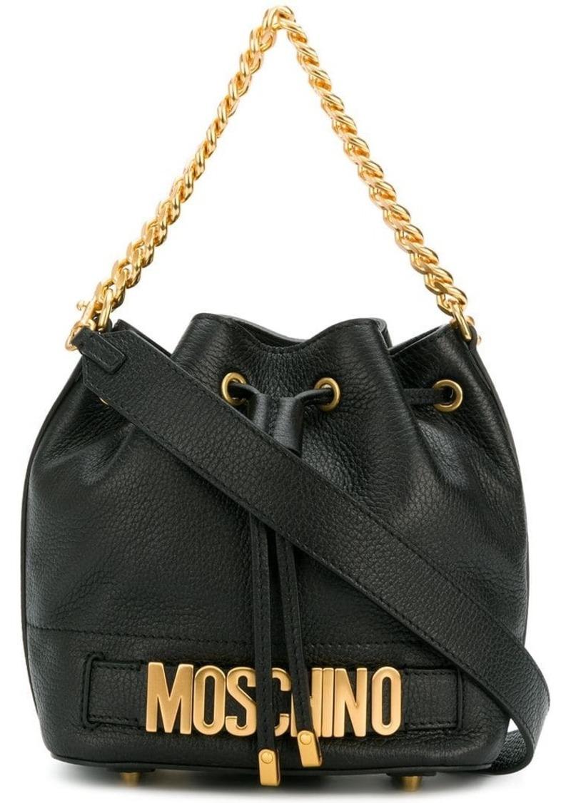 1383f526c4 Moschino logo plaque shoulder bag | Handbags