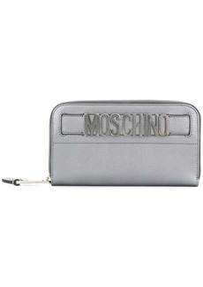 Moschino logo plaque wallet
