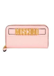 Moschino Logo Plaque Zip Wallet
