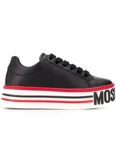 Moschino logo-embossed platform sneakers