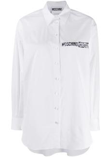Moschino logo popeline shirt