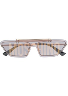 Moschino logo print cat eye sunglasses
