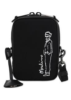 Moschino Logo Print Cotton Blend Camera Bag