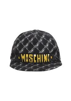 Moschino Logo Print Cotton Quilted Cap