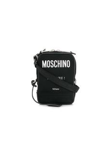 Moschino logo print cross body bag
