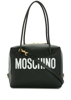 Moschino logo print crossbody bag