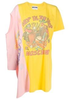 Moschino logo print double T-shirt dress