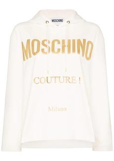 Moschino logo print hoodie