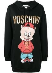 Moschino logo print hoodie dress