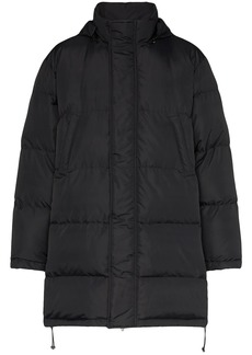 Moschino logo print puffer jacket