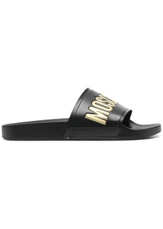 Moschino logo-print slide sandals