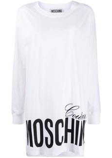 Moschino logo-print long-line sweatshirt