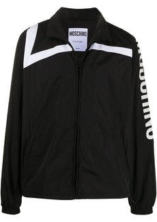 Moschino logo-print track jacket