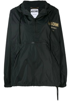 Moschino logo-print waterproof jacket