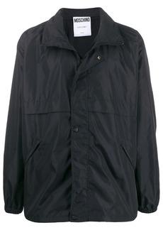 Moschino logo print windbreaker jacket