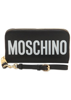 Moschino Logo Printed Leather Wallet