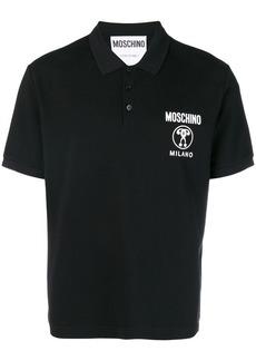Moschino logo printed polo shirt