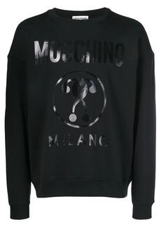 Moschino logo printed sweatshirt