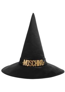 Moschino Logo Satin Witch Hat