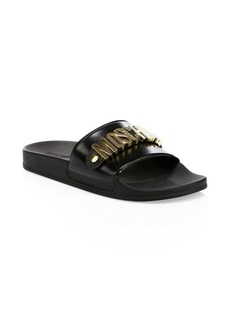 Moschino Logo Slide Sandals