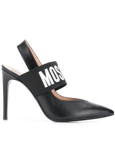 Moschino logo slingback pumps