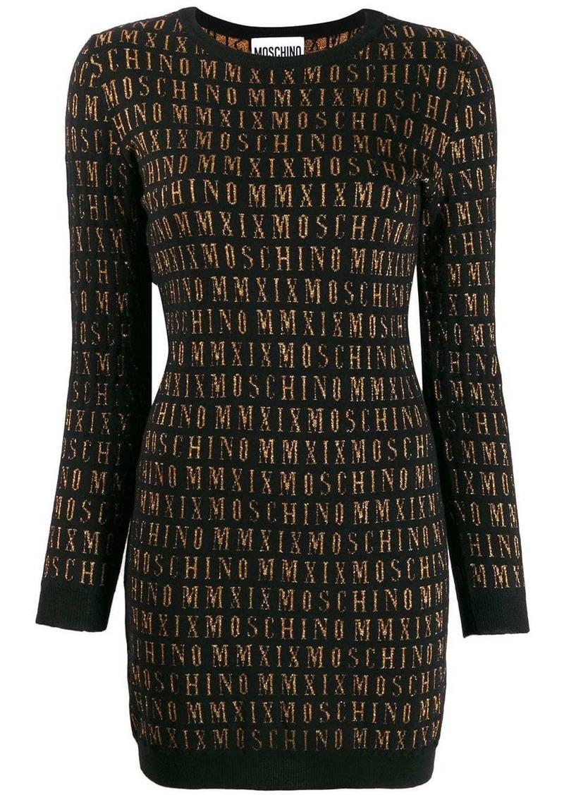 Moschino logo sweater dress