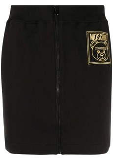 Moschino logo-embroidered track skirt