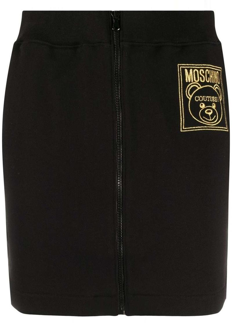 Moschino logo track skirt