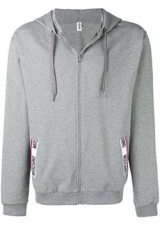 Moschino logo trim hoodie
