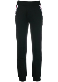Moschino logo trimmed jogging trousers