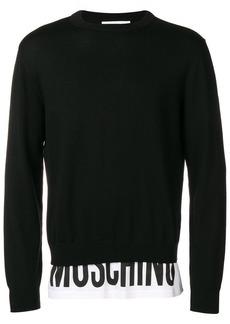Moschino logo waistband sweater