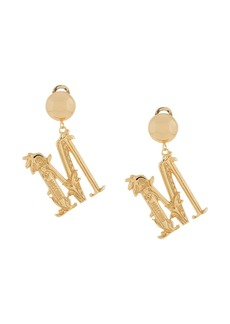 Moschino M logo clip-on earrings