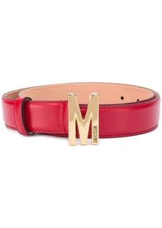 Moschino M logo plaque belt