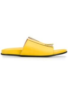 Moschino M logo slide sandals
