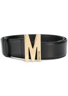 Moschino M plaque buckle belt